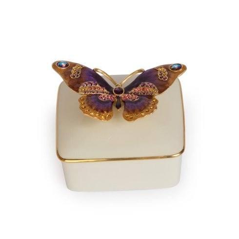 $295.00 Lilliana Butterfly Porcelain Box