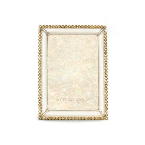 """Jay Strongwater   Lorraine Stone Edge 4"""" x 6"""" Frame - (3 Colors) $495.00"""