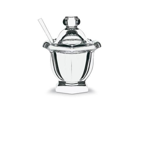 Baccarat  Harcourt Harcourt Missouri Mustard Jar with Spoon $250.00