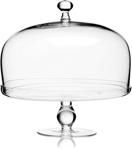 $75.00 Michelangelo - Footed Cake Plate with Dome Cover  sc 1 st  Glassworks \u0026 Cheeks & Luigi Bormioli ~ Michelangelo ~ Michelangelo - Footed Cake Plate ...
