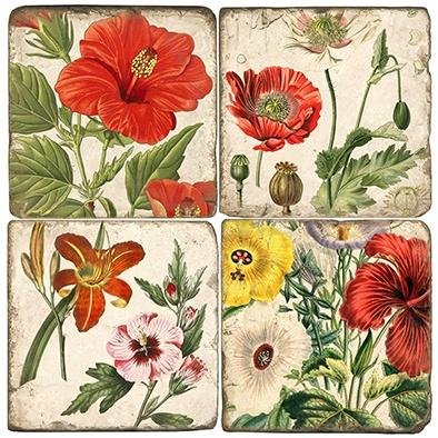 $48.00 Mixed Garden - Set of Coasters