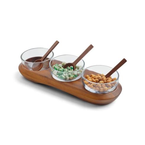 Miscellaneous   Cooper Triple Condiment Server w/ Spoons $100.00