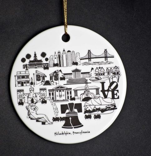 $15.00 Philadelphia Ornament