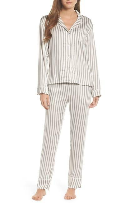 $104.00 PJ Salvage Walk The Line Stripe PJ Set