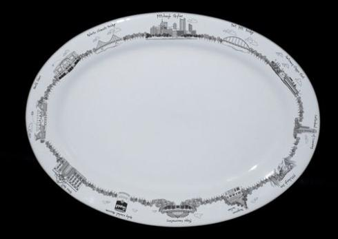 $50.00 Pittsburgh Oval Platter