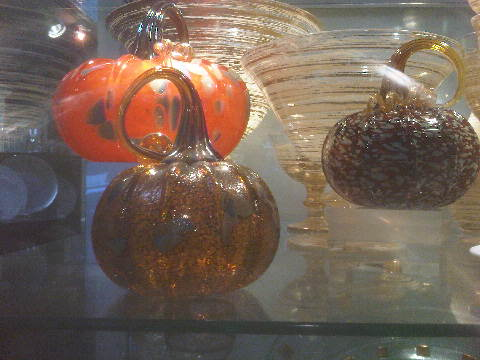 $102.00 Glass Pumpkin - Large