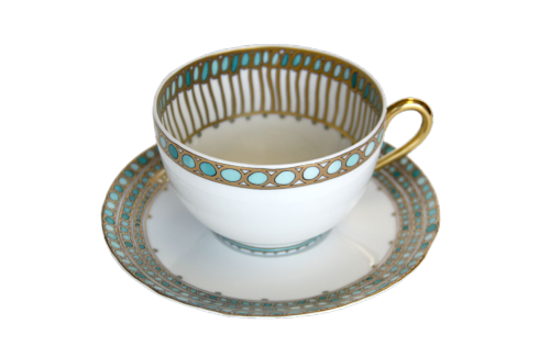 Syracuse Turquoise Tea Cup & Saucer
