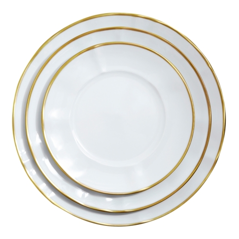 Anna Weatherly Simply Elegant Gold Custom 4-piece Place Setting