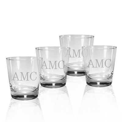 $65.00 Monogrammed Double Old Fashioned Glass (set of 4)