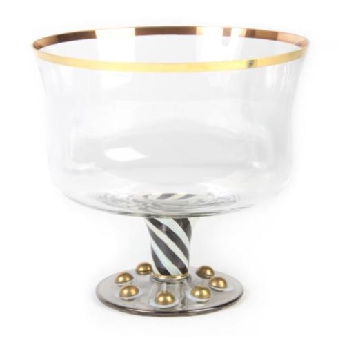 MacKenzie-Childs  Glassware Tango Trifle Bowl  $98.00