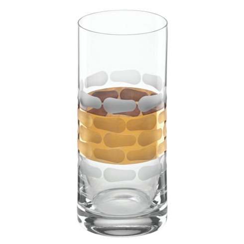 $40.00 Truro Gold Highball Glass
