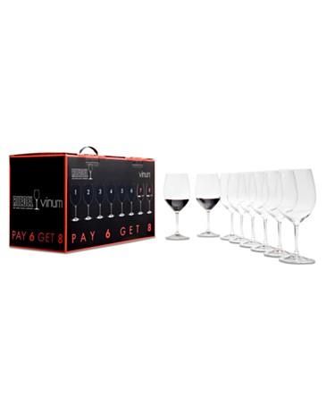 Riedel  Vinum Wine Glasses, Vinum Chardonnay/Chablis - Pay 6 Get 8 Set $177.00
