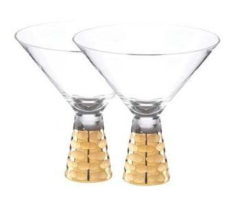 $125.00 Truro Gold Martini Glass - Set of 2