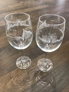 $25.00 Pittsburgh Wine Glass