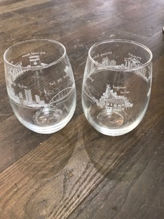 $20.00 Pittsburgh Wine Glass - Stemless