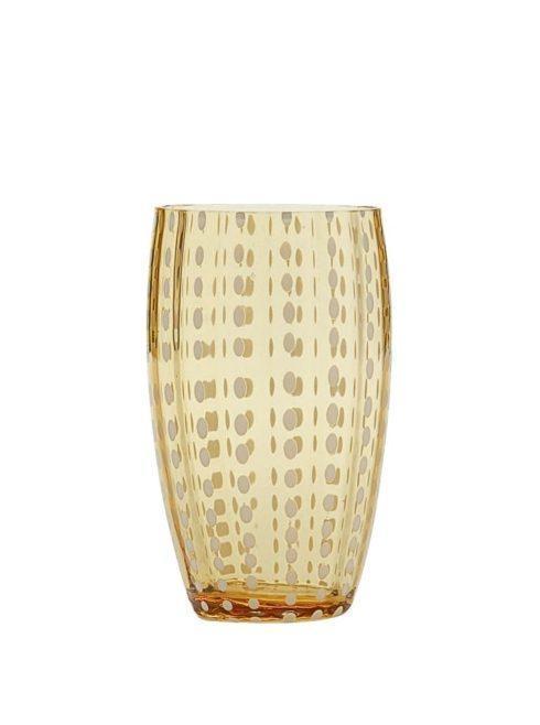 Zafferano   Perle Beverage Tall Glass (Set of 2) - Amber $50.00