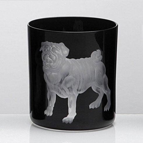 $168.00 Single Dog DOF Glass - Pug