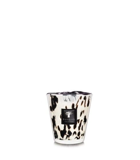 Pearls Scented Candle With Glass Holder