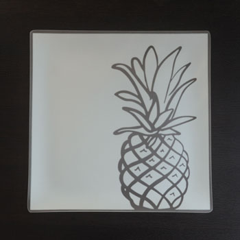 "$88.00 13"" Square Pineapple Plate"
