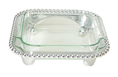 Mariposa  String of Pearls String of Pearls - Square Casserole/Baker with 2-Quart Pyrex Dish $120.00