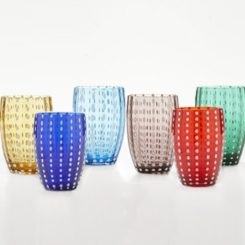 Zafferano Perle Tumbler Gift Set of 6 Glasses collection with 1 products