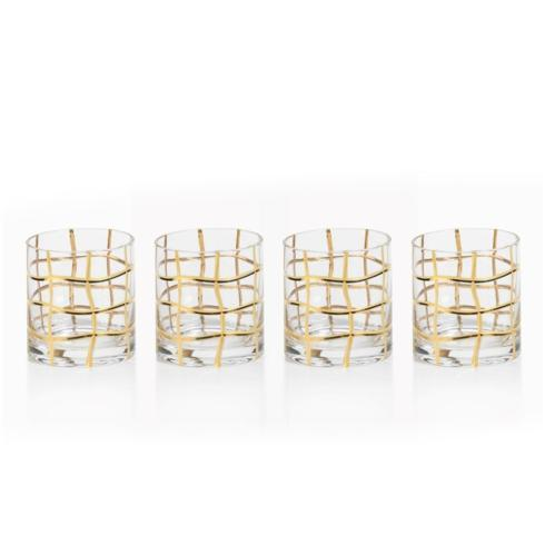 $14.25 Groove Double Old Fashioned Glasses