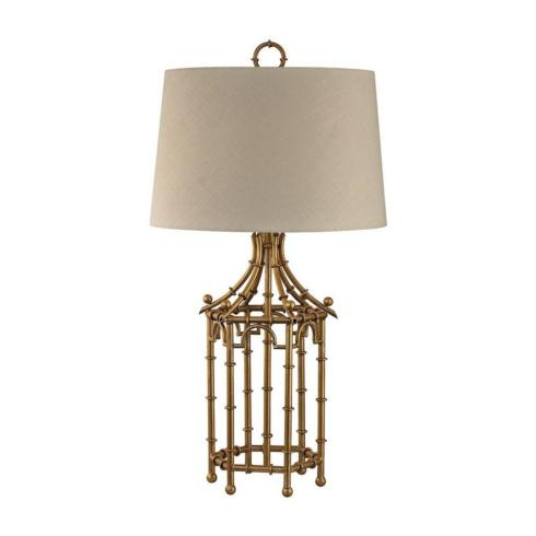 """$355.00 Bamboo Birdcage - 32.25"""" One Light Table Lamp"""