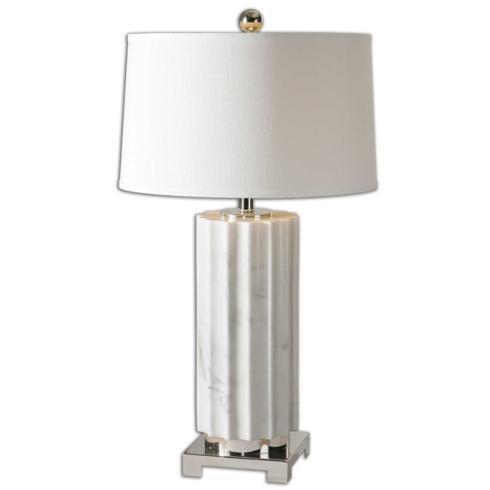 "$212.00 31"" Castorano White Lamp"