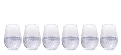 "$14.95 ""Vitorrio"" Wine Glass, Stemless Silver"