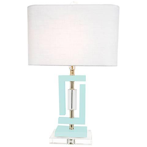 $245.00 Carlsbad Pale Blue Accent Table Lamp