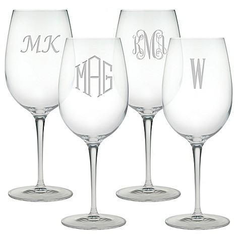 Susquehanna Glass   Susquehanna Glass Bordeaux Wine Glasses- Set of 4  $59.99