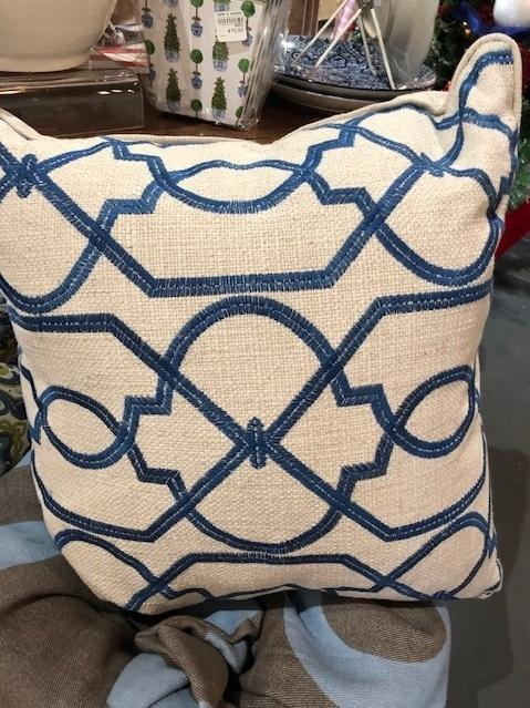 $155.00 Blue and White pillow 155.00