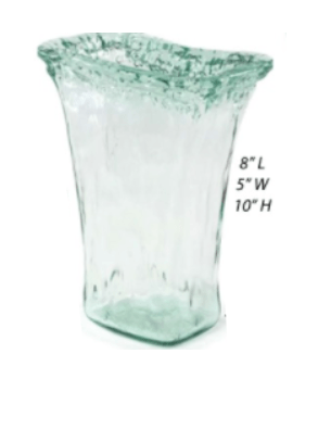 $29.95 Recycled Glass Iceberg Small Tapered Vase