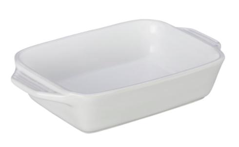 $50.00 Rectangular Dish 2.2 Qt.- White