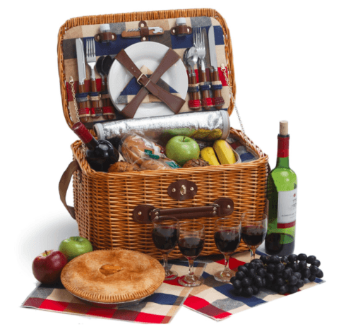 $192.99 Rustica 4 Person Basket in Plaid Lining