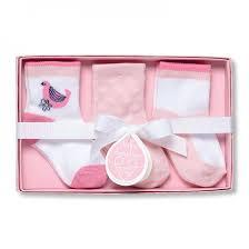 Home and Garden Exclusives   Baby Dumpling sock set, pink $10.95