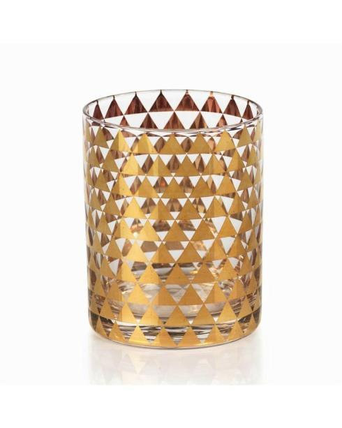 $17.95 Seraphina Golden Triangle Decal Double Old Fashioned Glasses