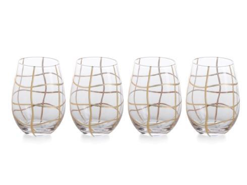 "$17.50 Groove 6.5"" Tall Stemless Wine Glass"
