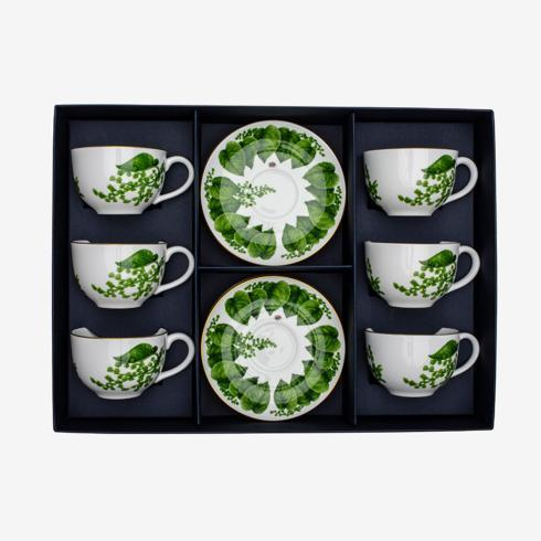 $565.00 Teacup & Saucer Boxed Set of 6