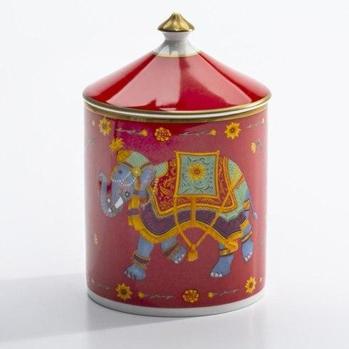 $150.00 Ceremonial Indian Elephant Rose Lidded Candle