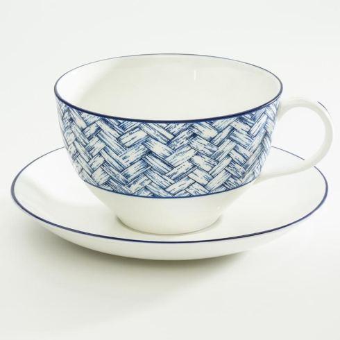 $135.00 Serengeti Basket Wave Breakfast Cup & Saucer