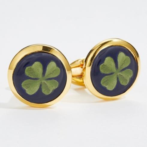 $120.00 Round Gold Cufflinks