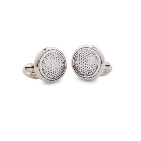 $120.00 Golf Ball Round Palladium Cufflinks