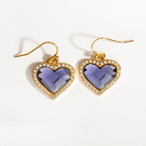 $135.00 Blue Topaz & Gold Earrings