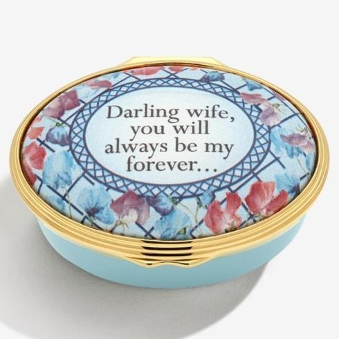 "$275.00 "" Darling Wife, You Will Always Be My Forever"" Enamel Box"
