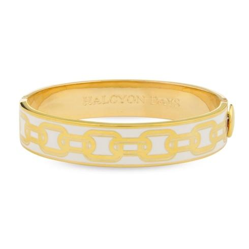 $225.00 Cream & Gold Hinged Bangle