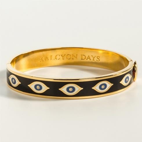 $225.00 Midnight Blue & Gold Hinged Bangle