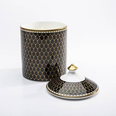 $145.00 Antler Trellis Black Lidded Candle