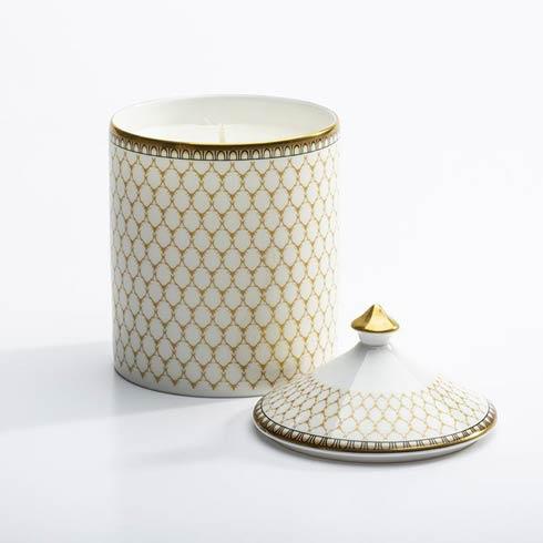$145.00 Antler Trellis Ivory Lidded Candle