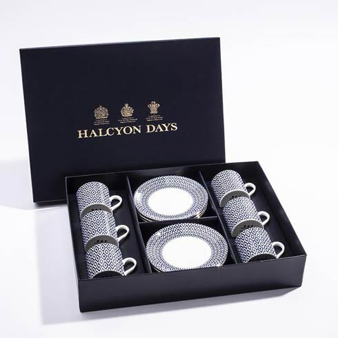 $510.00 Midnight Coffee Cup & Saucer Boxed Set of 6